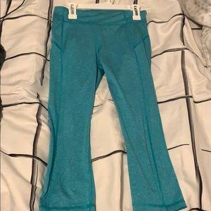Blue Capri Workout leggings